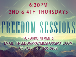 Freedom Sessions @ Grace Fellowship  | Cabot | Arkansas | United States